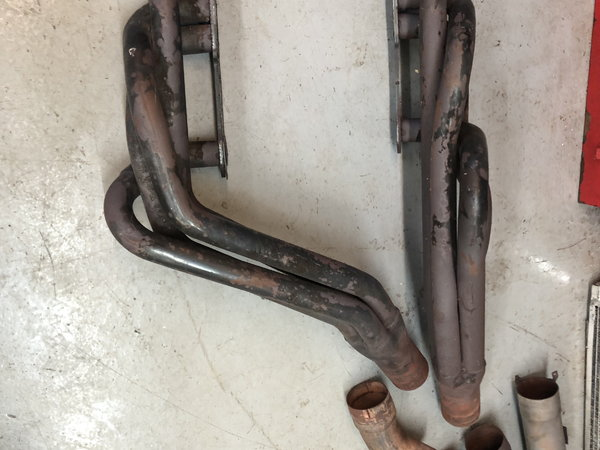SBC cross over headers and exhaust piping  for Sale $150