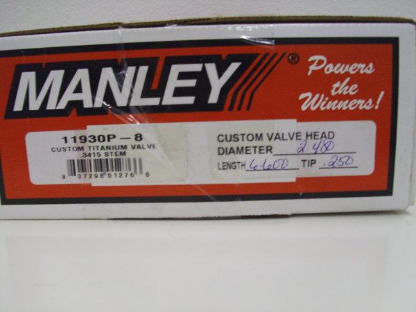 Manley Custom Titanium valves  for Sale $795