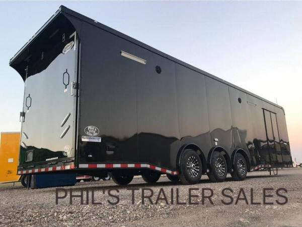 34 Black out Race trailer with cabinets down side wall loade  for Sale $24,500