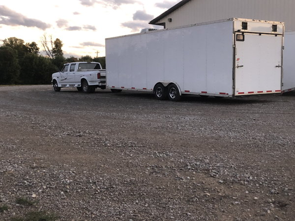 1995 Ford Dually and 28' enclosed trailer