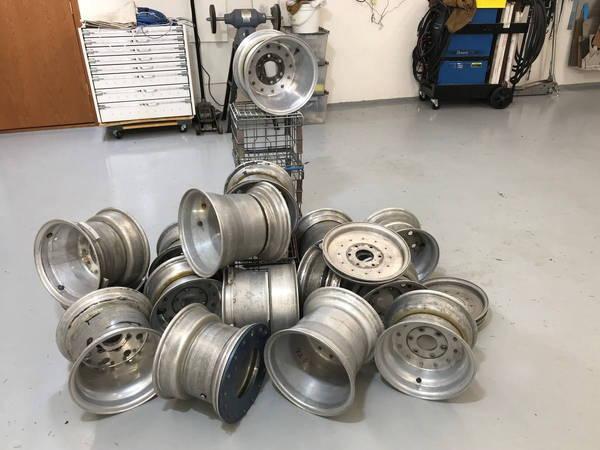 Vintage midget race car metal wheels  for Sale $1,000
