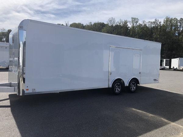 2021 8.5 x 20' Aluminum Car Hauler w/Escape Door