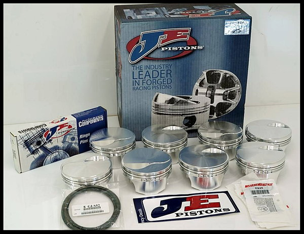BBC CHEVY 632 MERLIN SHORT BLOCK FORGED PISTONS +3cc DOME   for Sale $5,195