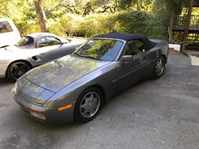1990 944 S2 Cabriolet Seal Gray/Black 124k mi