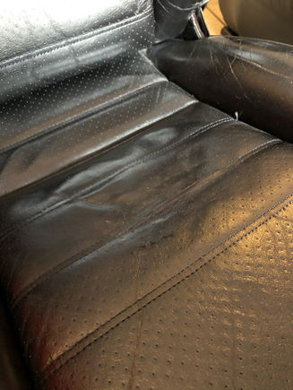Leather repair on driver seat