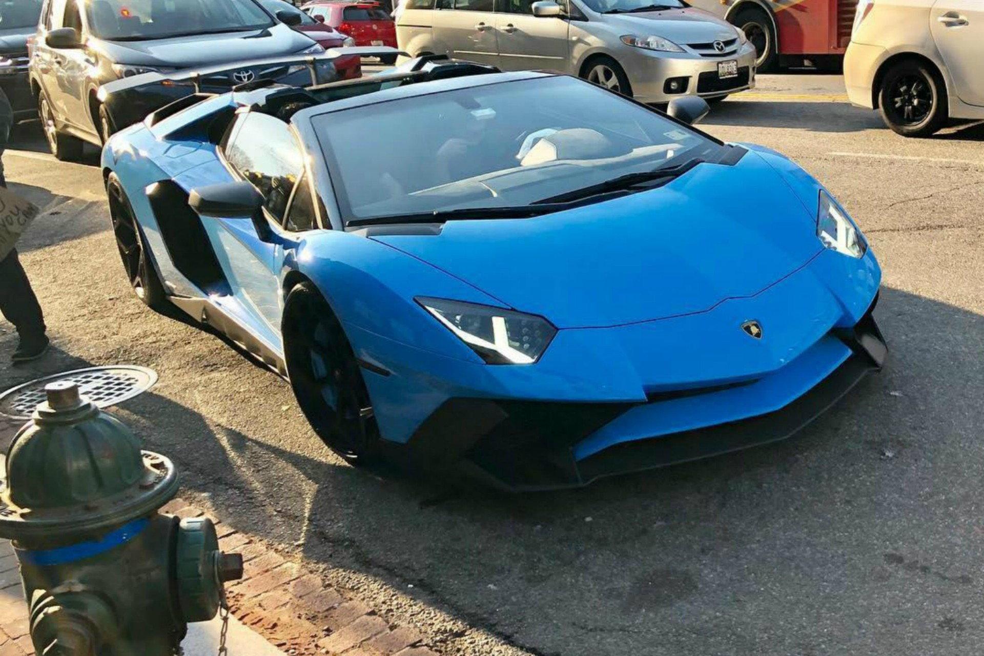 Baby Blue Lamborghini Aventador Lp 750 4 Sv Roadster 6speedonline Porsche Forum And Luxury Car Resource