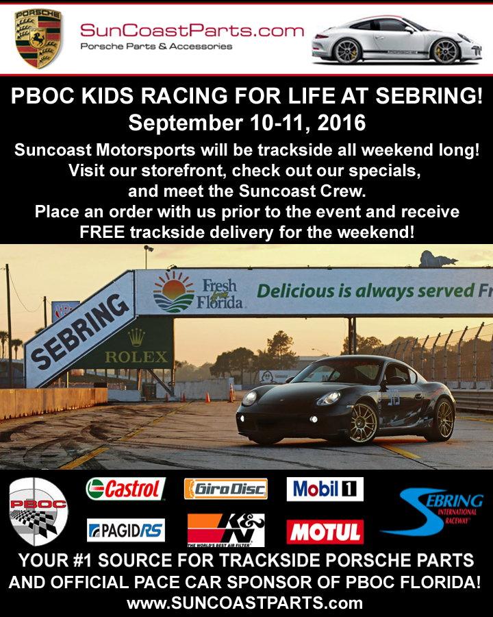 Suncoast Parts At Sebring: Sept 10-11 And 17-18