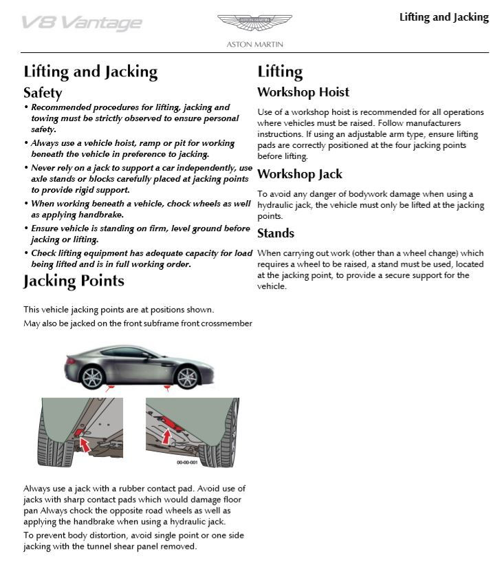 Jack Pads For Vantage Db9 6speedonline Porsche Forum And Luxury Car Resource