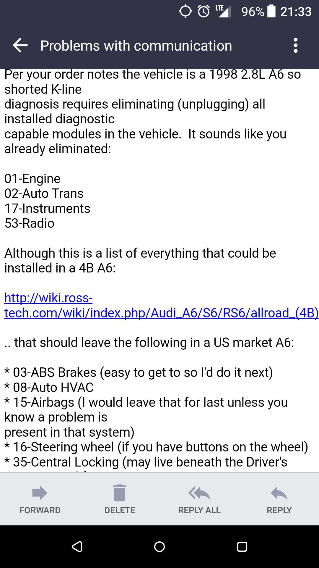 k line init failed - AudiWorld Forums