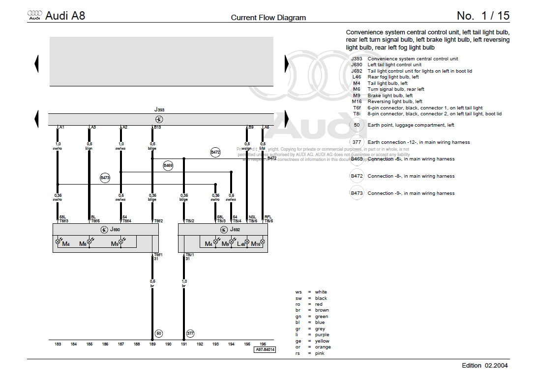 Rear Led Light Wiring Diagram: Rear Tail Light Wiring Diagrams - AudiWorld Forumsrh:audiworld.com,Design
