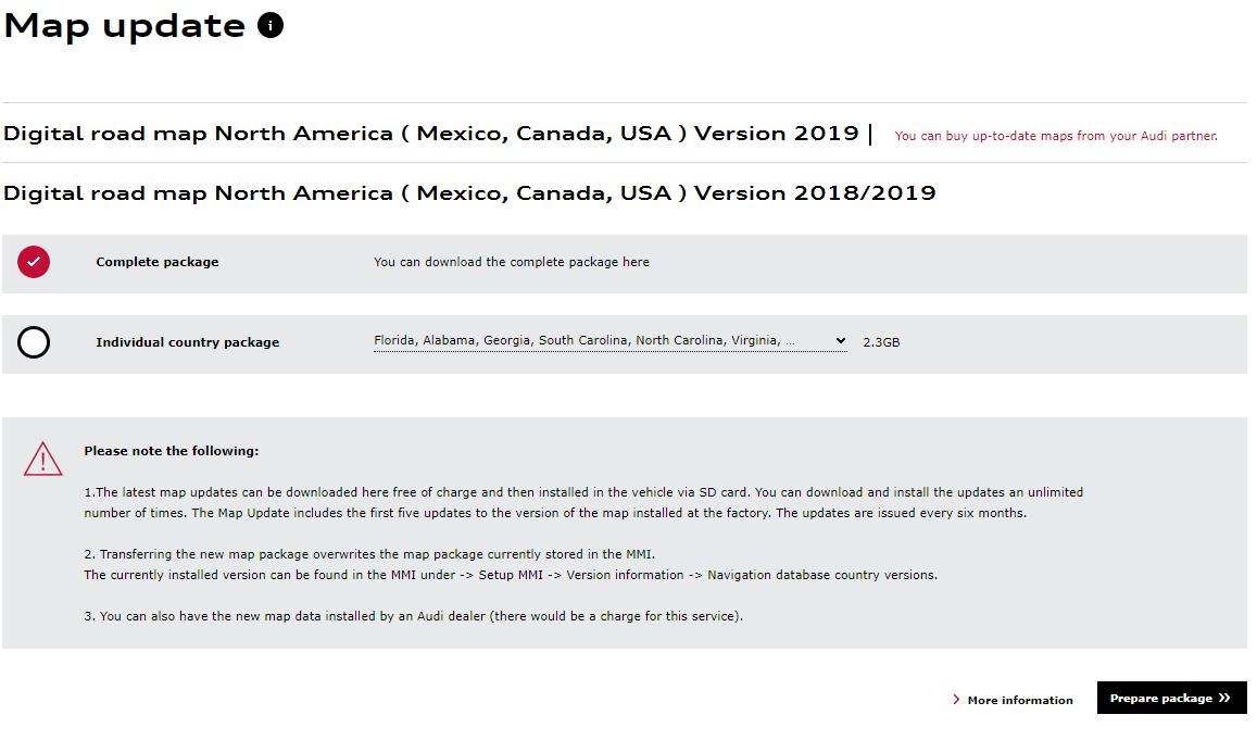 Getting 2019 Navigation Update - AudiWorld Forums