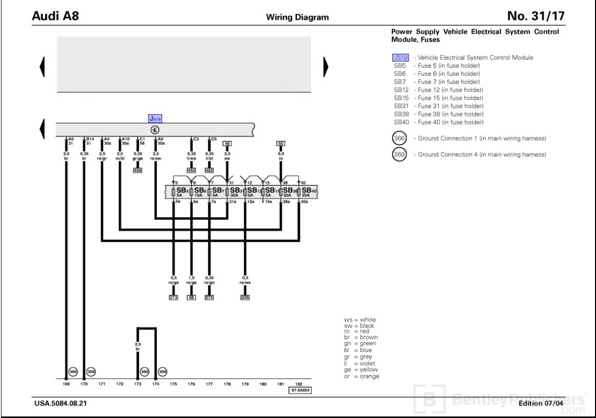 audi a8 electrical wiring diagrams audi wiring diagrams audi a8 4e wiring diagram