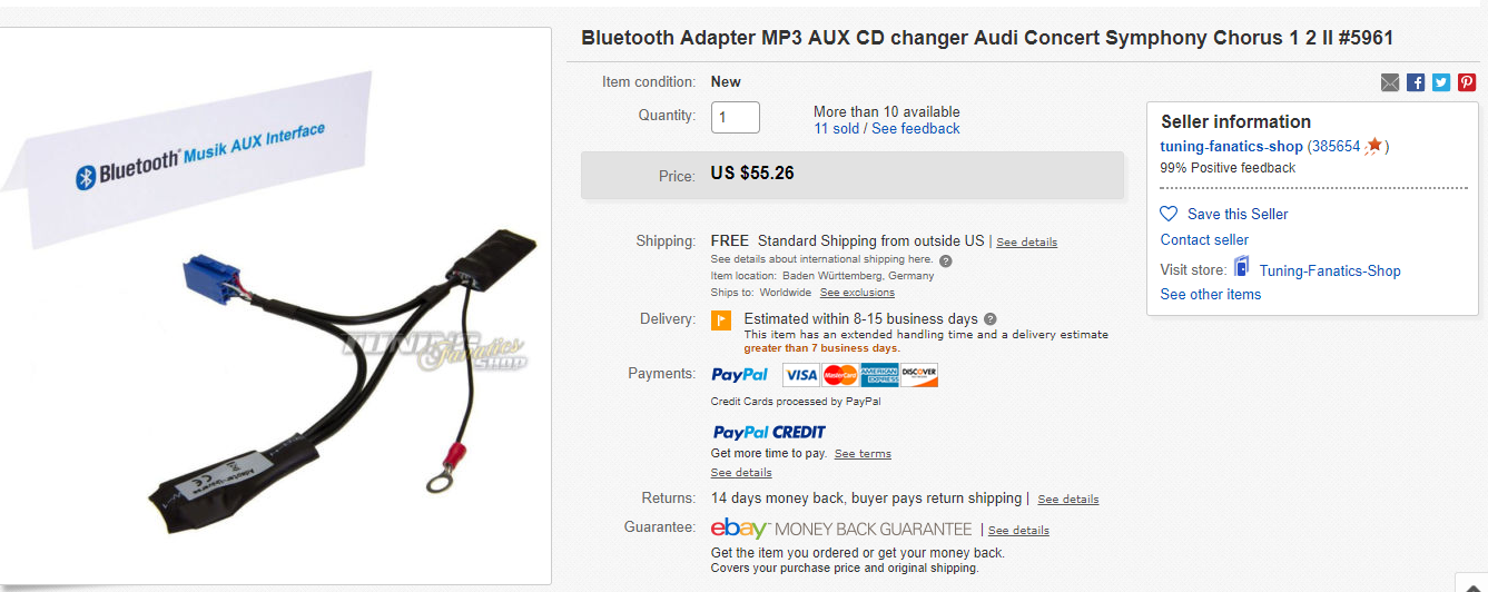 audi symphony bluetooth adapter photos audi collections. Black Bedroom Furniture Sets. Home Design Ideas