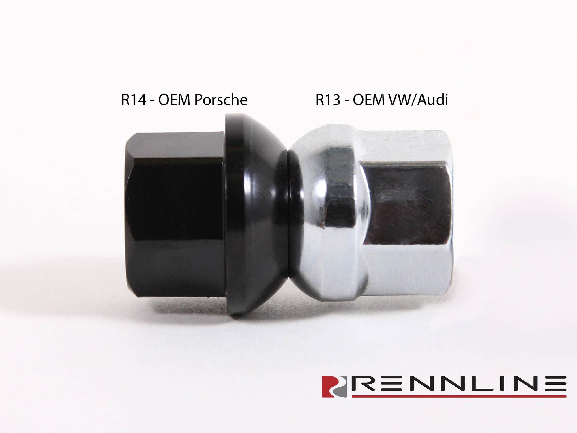 Porsche 20 MM Hub Centric Wheel Spacers OEM Extended Lug Bolts Black 14x1.5 R14