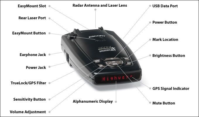 Escort radar detector direct wire smartcord for sale online