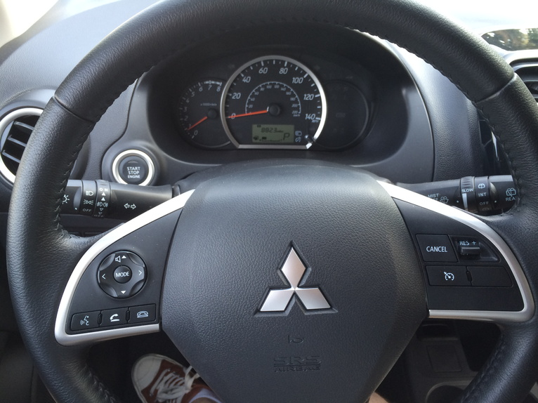 2014 Mitsubishi Mirage wheel dash
