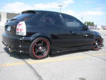 "My Lowered '98 Civic hatch w/ 17"" 5Zigen's"