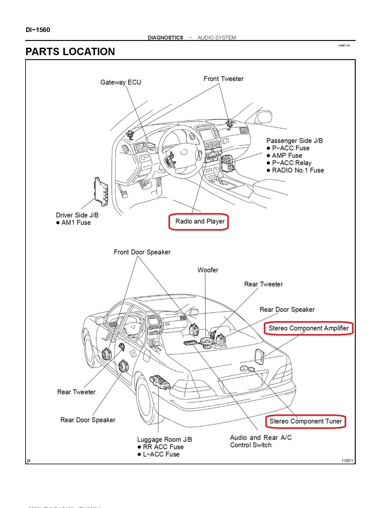 2002 ls430 radio wiring diagram please clublexus lexus forum 2002 Lexus  SC430 Interior the antenna cable