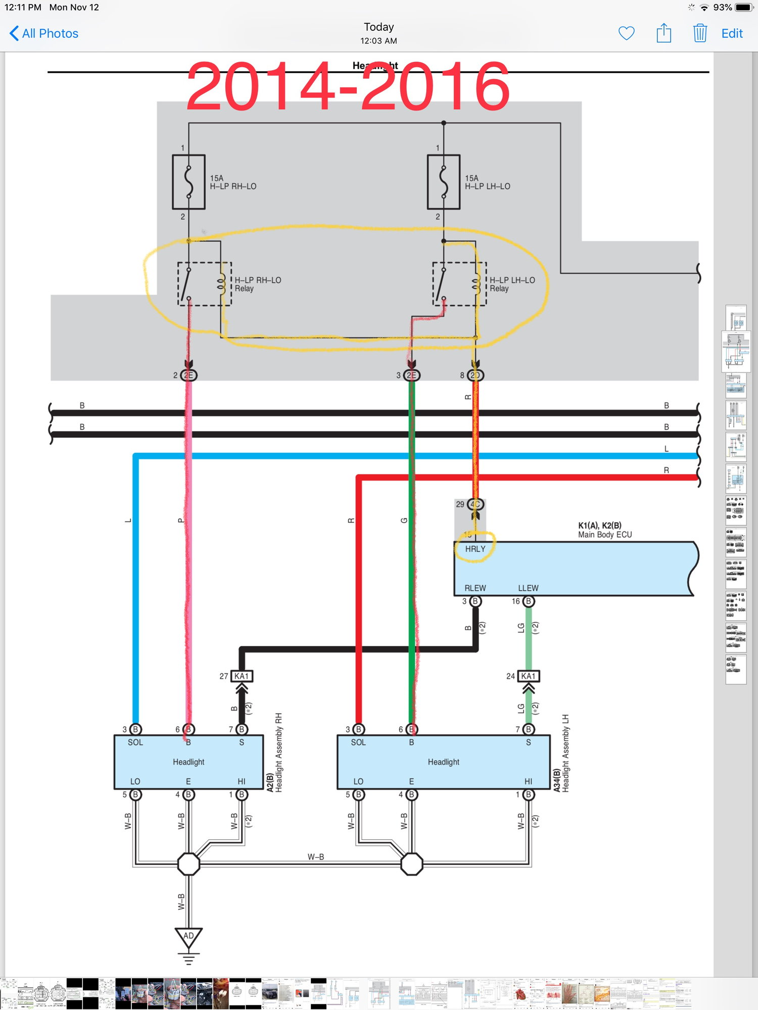 """i get a """"check headlight system"""" warning ⚠   i am working on solving this   refer to my diagram  i think it might be a miscommunication between the new"""