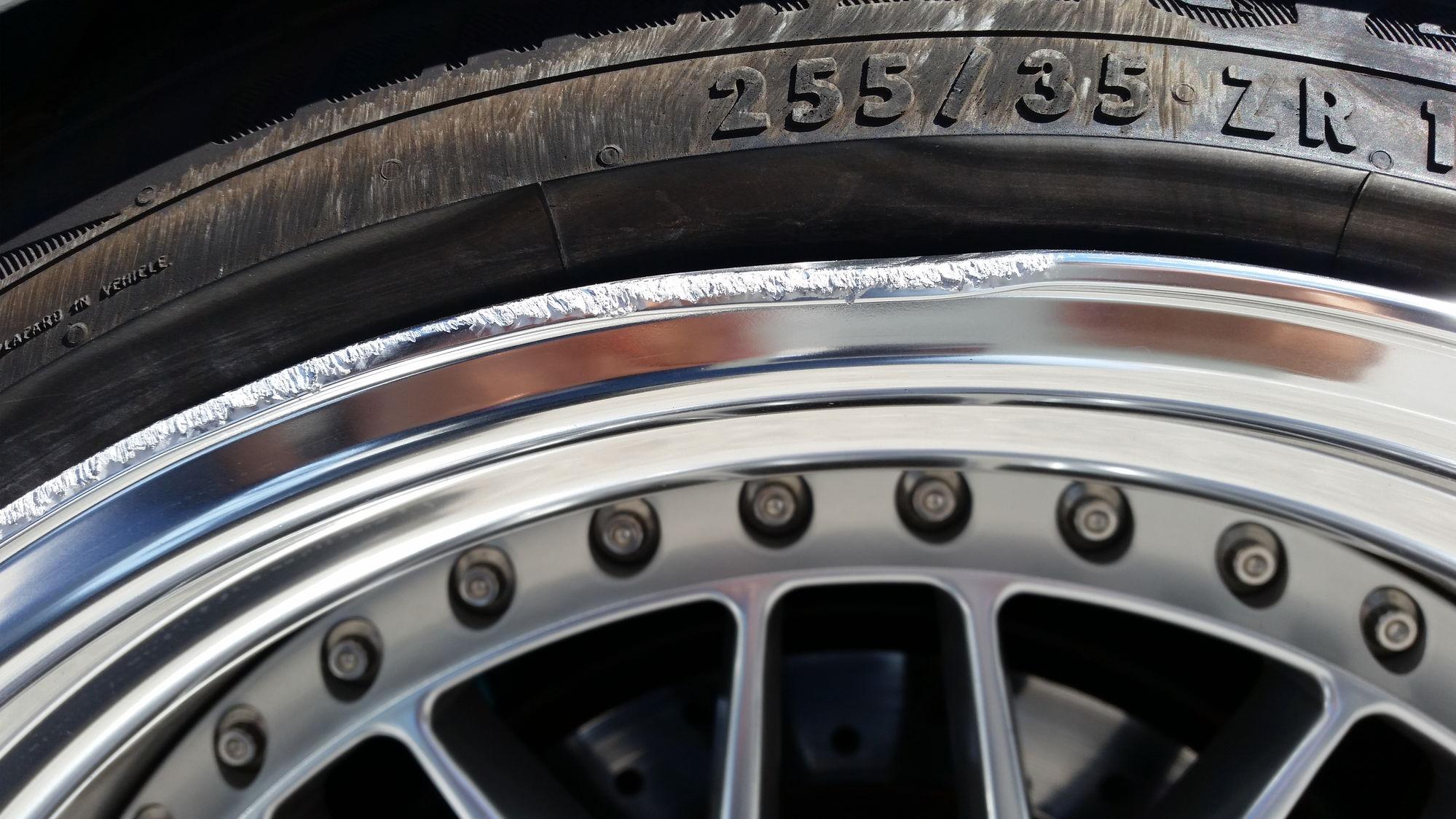 Bent outter lip on rim Easy repair ClubLexus Lexus Forum