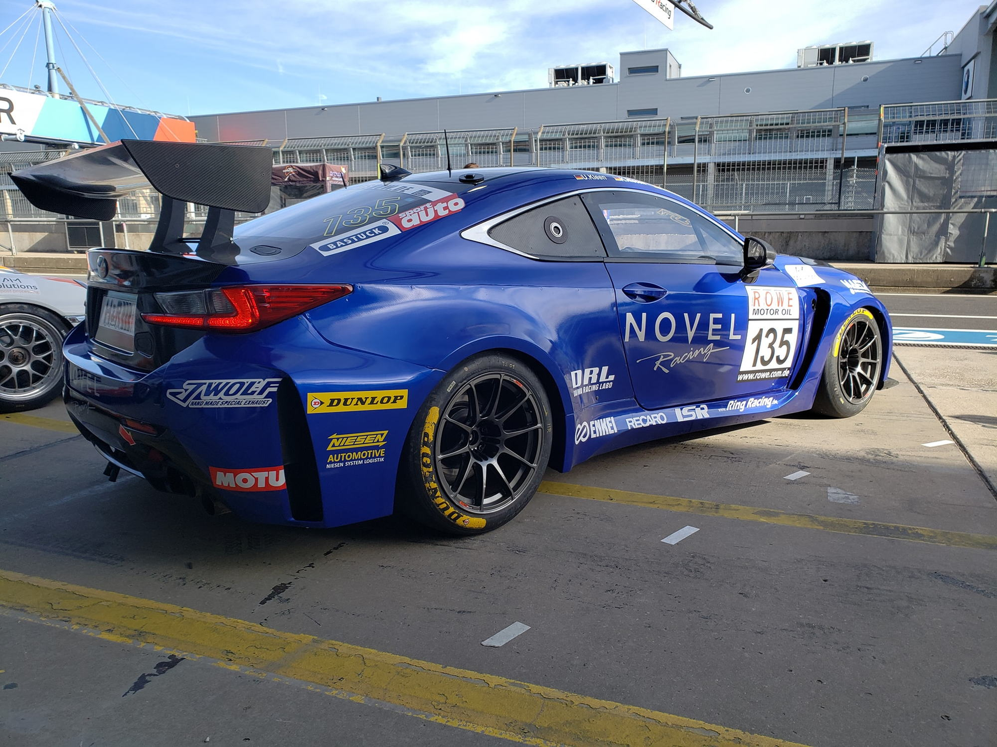 VLN Season Opener at Nurburgring NOVEL RC F pitting with Toyota A90