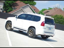 "18"" x 9"" BFD matte bronze wheels."