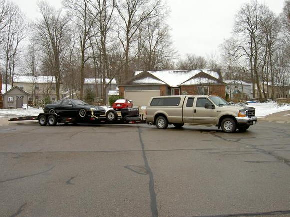 F250 SD Turbo-Diesel  and trailer