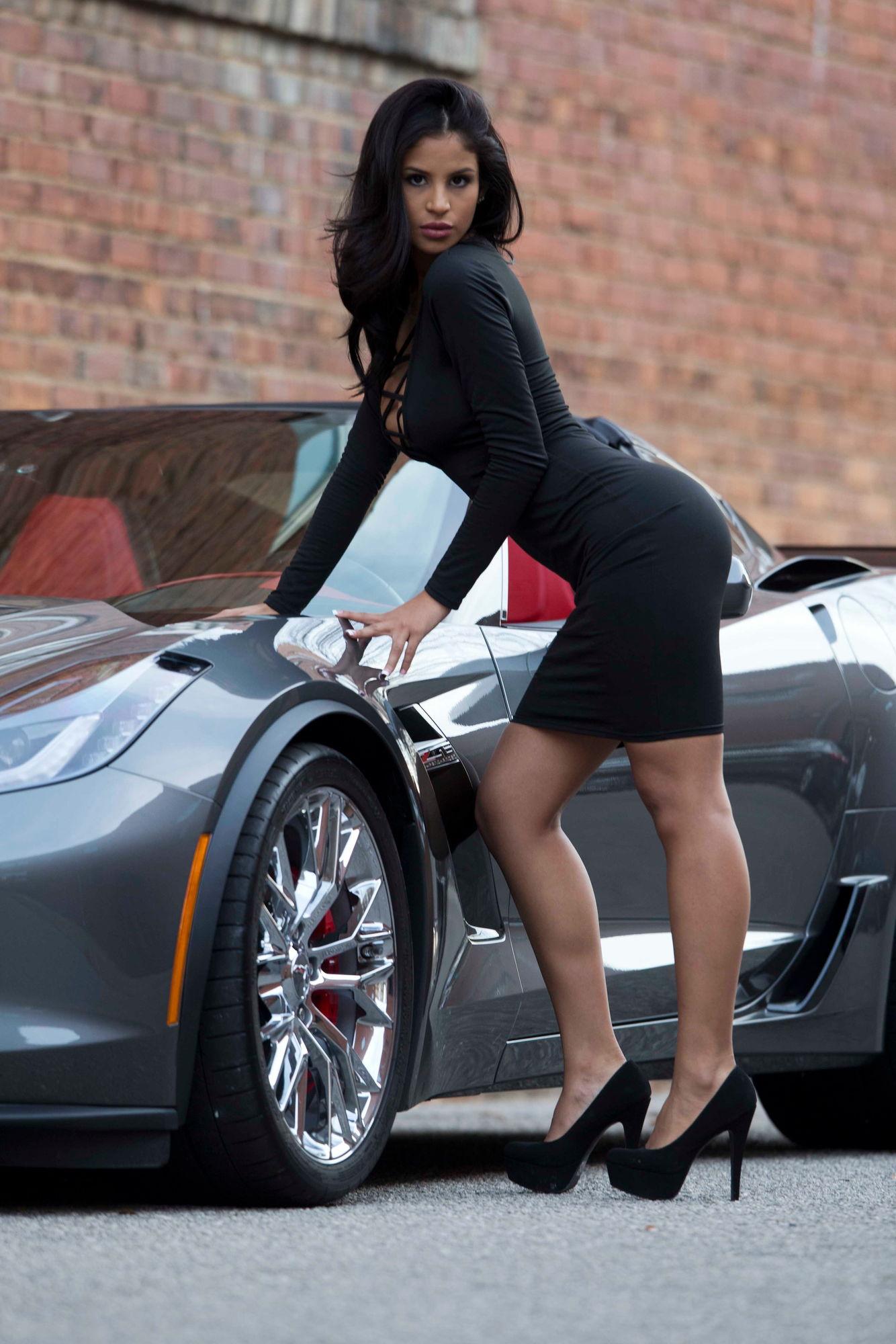 my shark grey z06 with sexy latina model - corvetteforum - chevrolet
