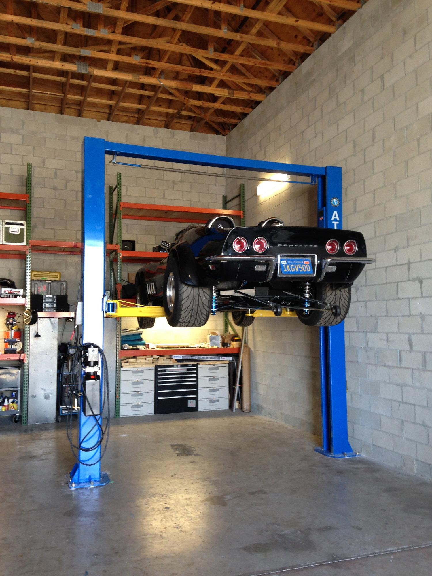 2 post lift - CorvetteForum - Chevrolet Corvette Forum