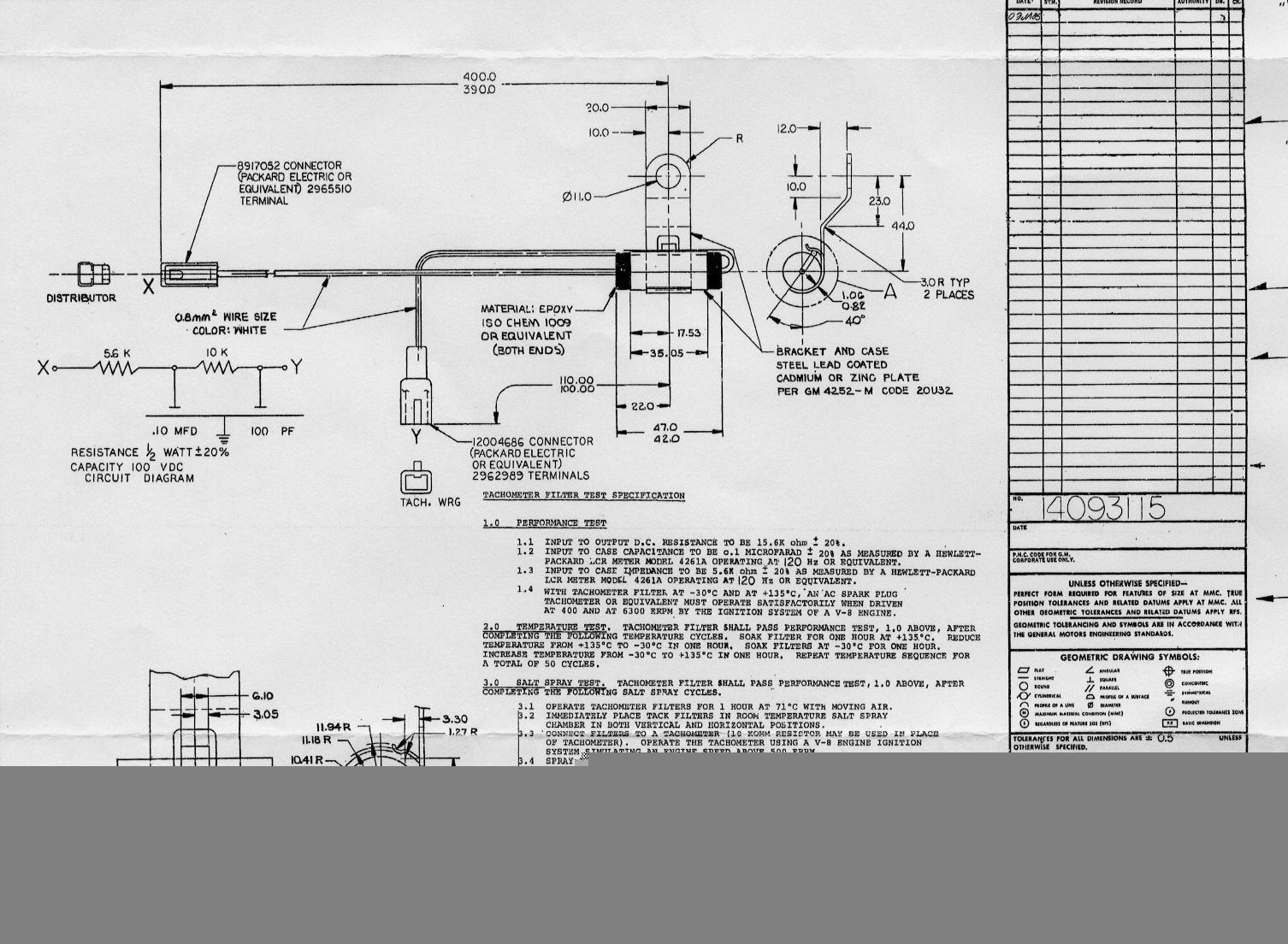 Corvette Tach Filter Schematic Engine Control Wiring Diagram 1990 Tech Corvetteforum Chevrolet Forum Discussion Rh Com Gm Hei