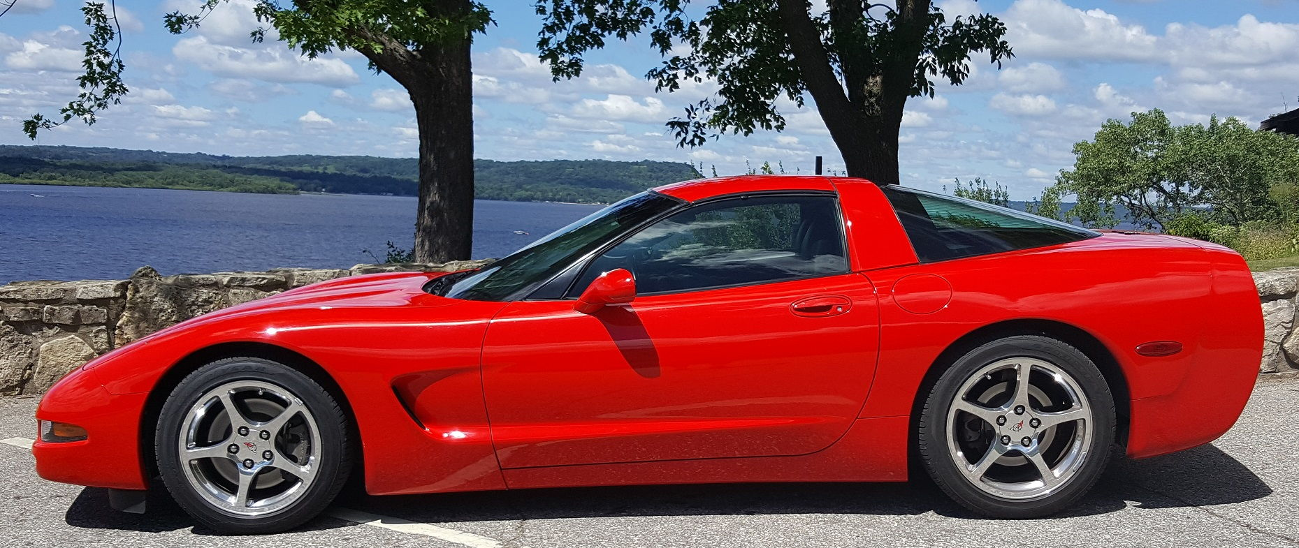 fs for sale 2004 corvette coupe torch red stock 50k. Black Bedroom Furniture Sets. Home Design Ideas