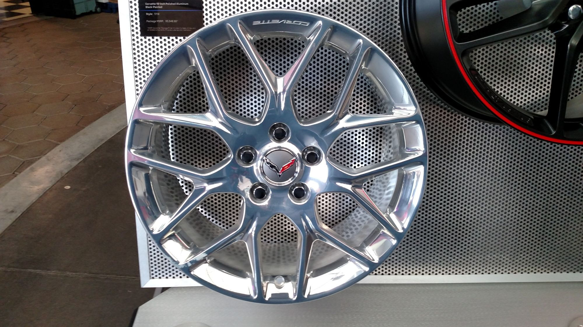 19 x 85 483 cm x 216 cm front and 20 x 10 508 cm x 254 cm rear 1 included and only available with zld twilight blue design package or - 2016 Corvette Stingray And Z06 Spice Red Design Package