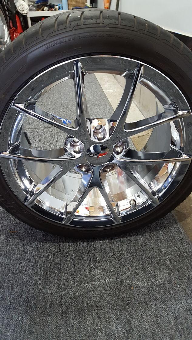 Fs Chrome C6 Z06 Spyder Wheels W Tires Tpms