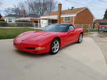 My 1st 'vette after it's first hand wash