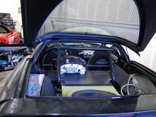 Rear in progress - note 18 inch JL Audio Subwoofer