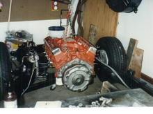 PO photo, original numbers matching 327 was rebuilt at standard bore.  However, it was stored for safe keeping and replaced with the 468 for now.