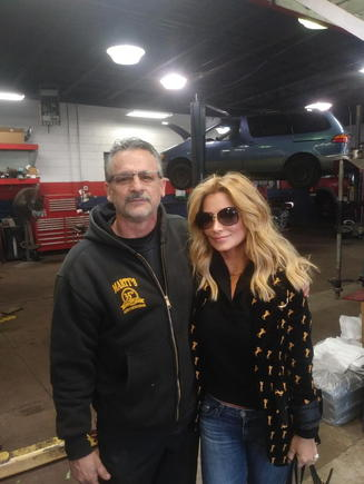 dr v from the tv show marriage boot camp stopped by the shop after doing good morning america