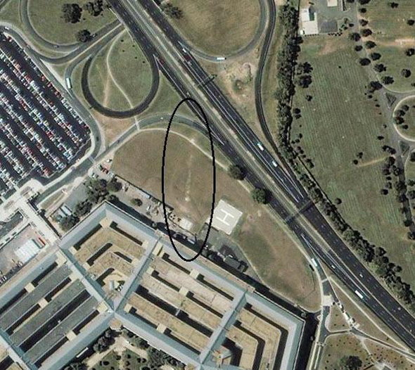 Satellite Image Shows A Missile Hitting The Pentagon