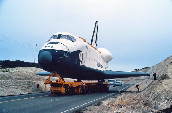 space shuttle landing at vandenberg - photo #9