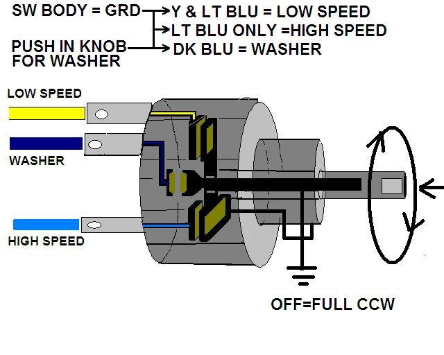 C2 1964 Windshield Wiper Motor and Washer Pump wiring - CorvetteForum -  Chevrolet Corvette Forum DiscussionCorvette Forum