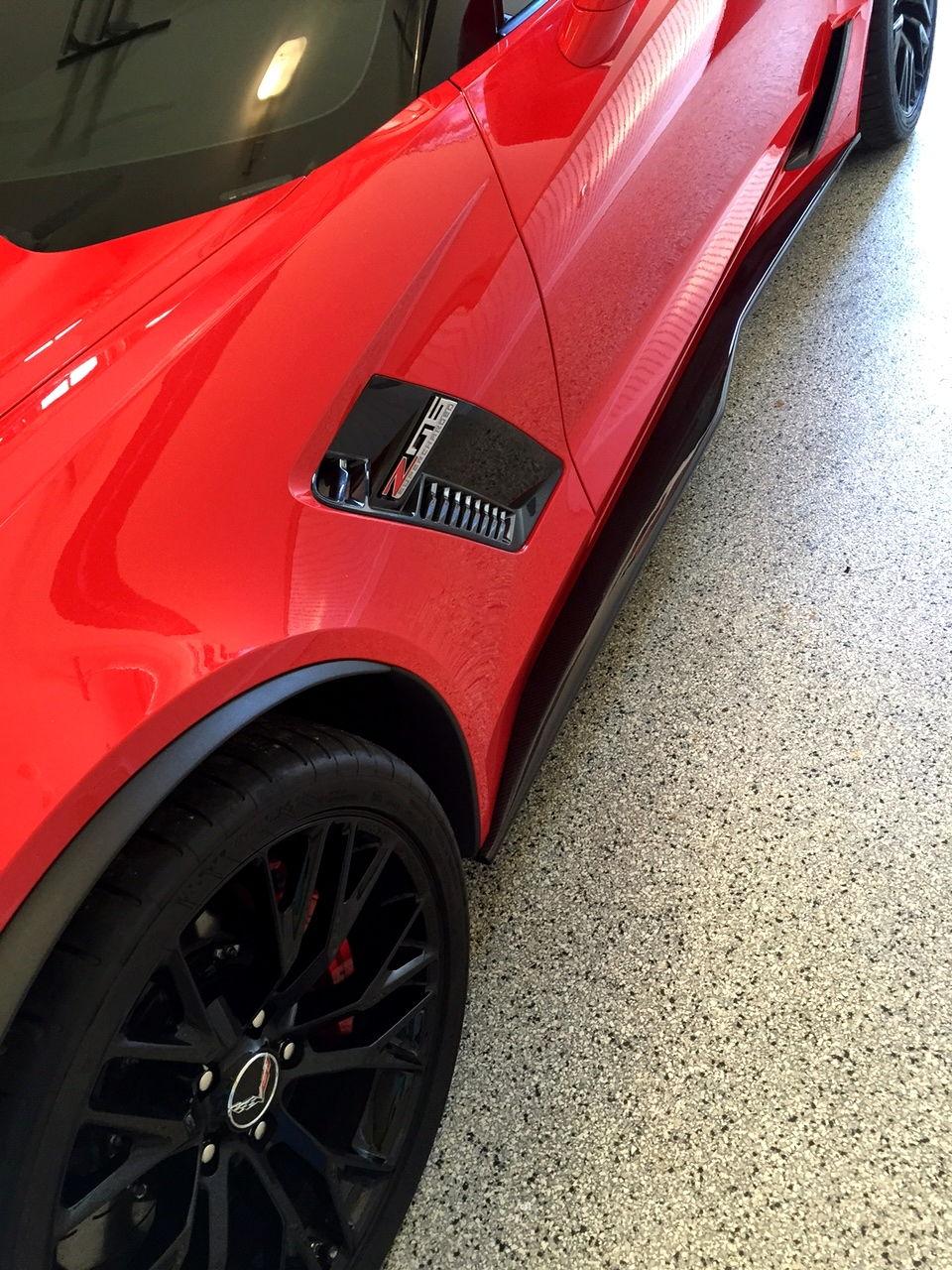 2014 2015 c7 corvette stingray z06 painted front splitter available for base or z06