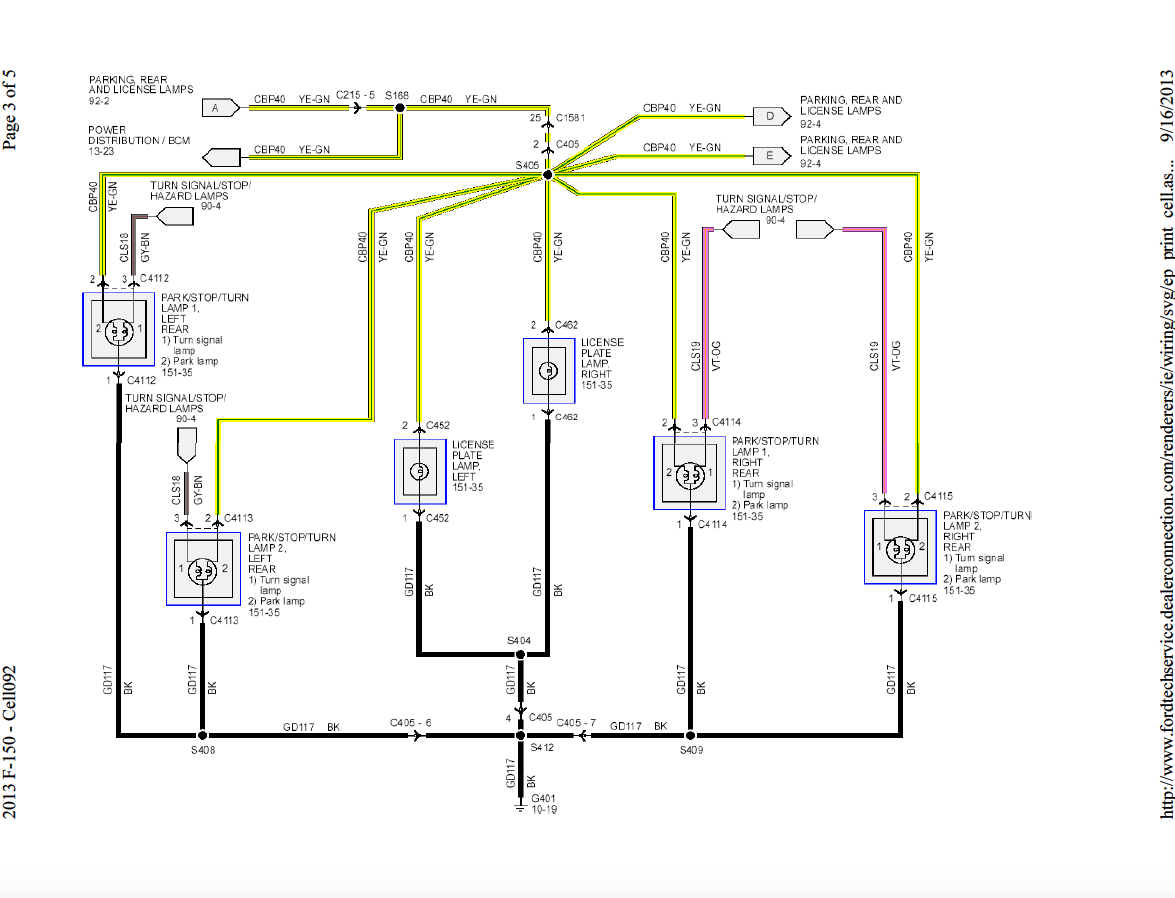 2013 F150 Front & Rear Exterior Lights Wiring Harness Diagram - Ford F150  Forum - Community of Ford Truck FansFord F150 Forum
