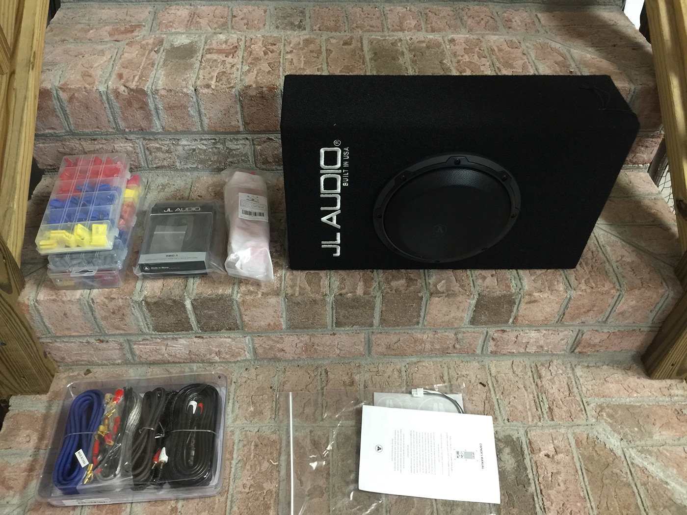 JL Audio ACP108LG-W3v3 and install materials