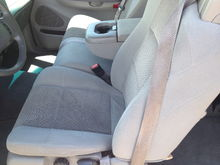 Driver's side front seats
