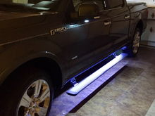 Running board LEDs on both sides.