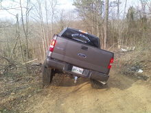 crawled up onto a stump and it lifted the back wheel up too!!!