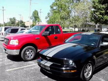 My truck and Mustang