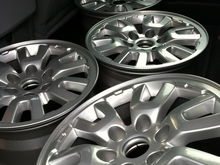"""""""Chrome"""" Powder coated Raptor wheels"""