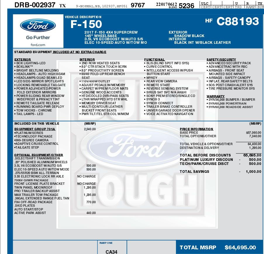 Just tell us your under invoice price paid. - Page 439 - Ford F150 ...