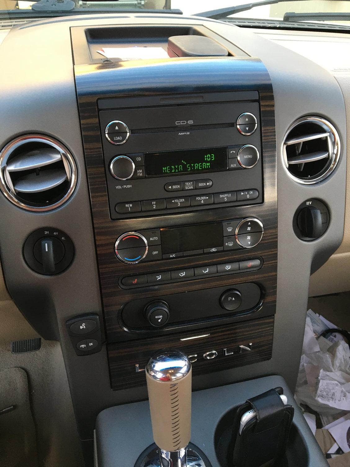 2008 f150 phone button on radio